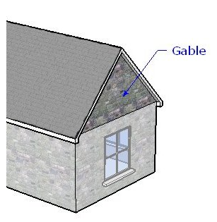 House of the seven gables 1978 renga in blue for Gable roof advantages and disadvantages